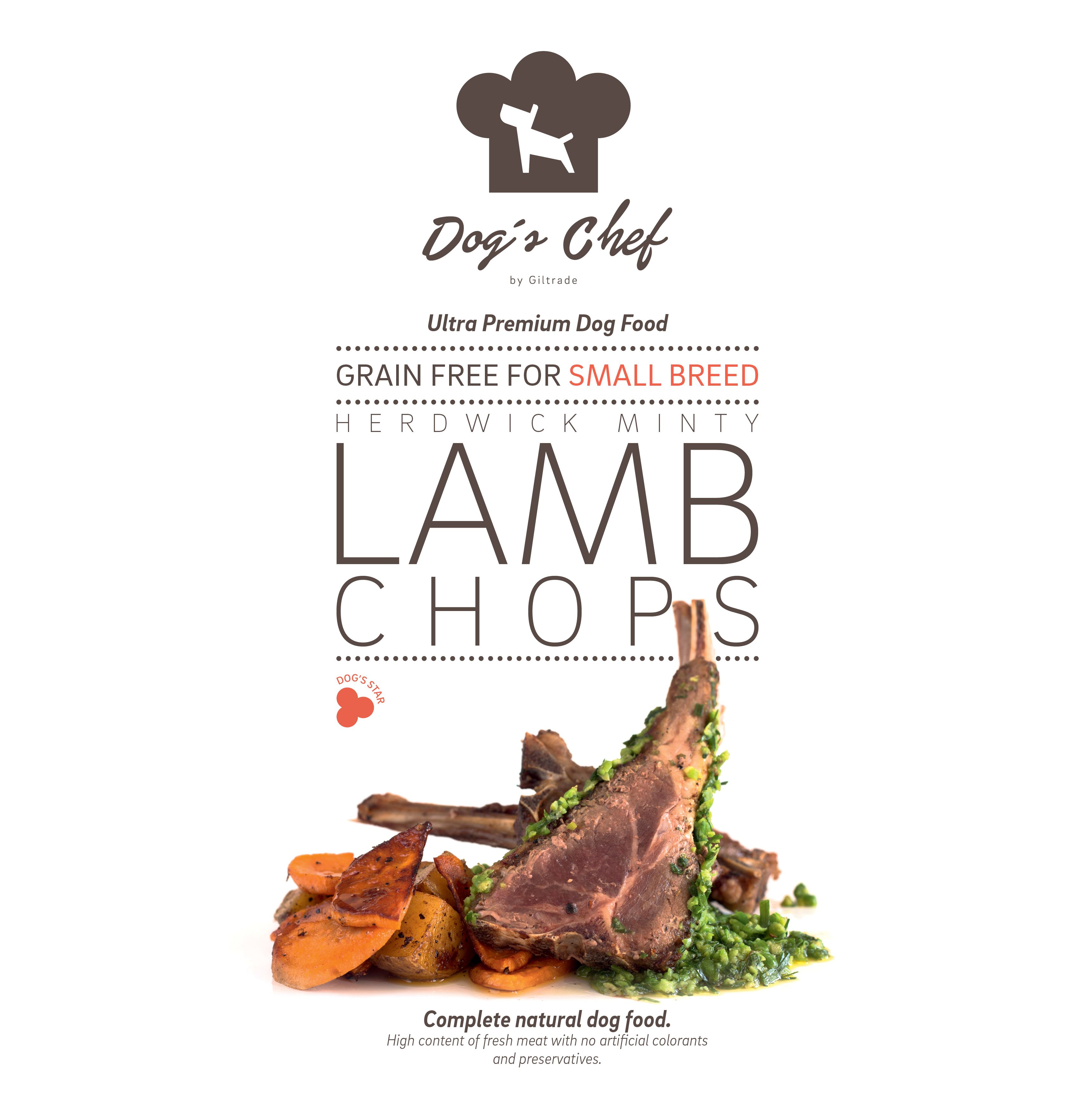 DOG'S CHEF Herdwick Minty Lamb Chops for SMALL BREED 2kg