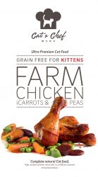 CAT'S CHEF Farm Chicken with Carrots & Peas for KITTENS